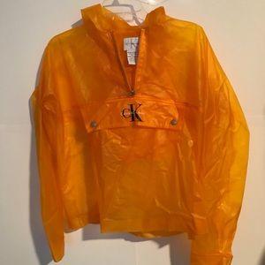 Vintage 90s Calvin Klein raincoat pullover M
